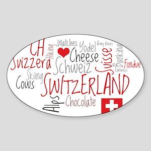 What We Love About Switzerland Sticker (Oval)