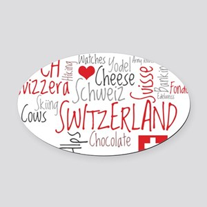 What We Love About Switzerland Oval Car Magnet