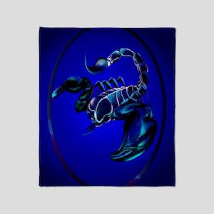 ornament_ovalBlack Scorpion Throw Blanket