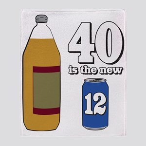 40 is the new 12 Throw Blanket