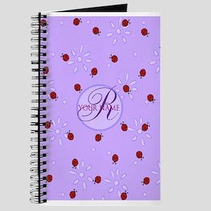 Lavender Purple Lady Bug Monogram Journal