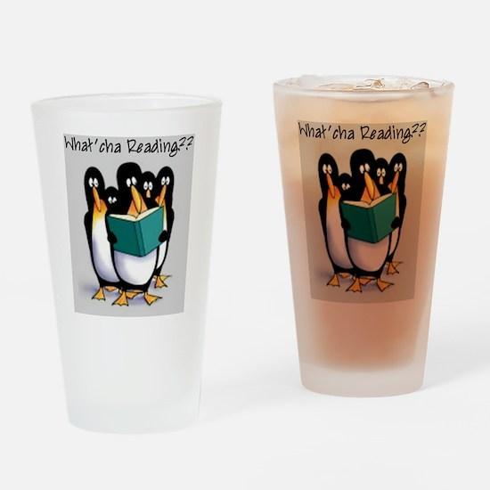 penguins Drinking Glass