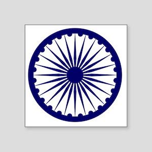 """10x10-Ashoka_Chakra Square Sticker 3"""" x 3"""""""