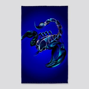LargePosterBlack Scorpion 3'x5' Area Rug