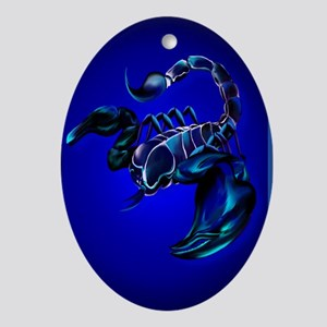 LargePosterBlack Scorpion Oval Ornament