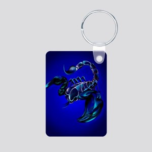 LargePosterBlack Scorpion Aluminum Photo Keychain