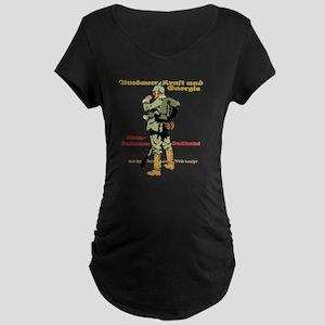 Endurance, Strength & E Maternity Dark T-Shirt
