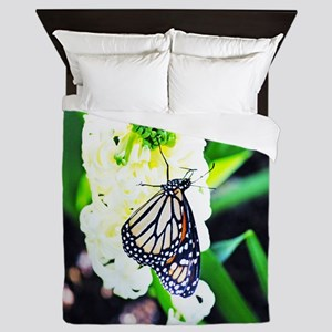 Monarch Butterfly and Hyacinth Queen Duvet