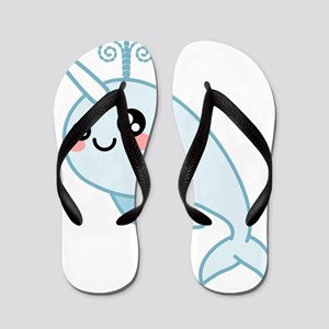 Narwhal Cutie Flip Flops