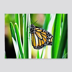 Sweet Monarch Butterfly 5'x7'Area Rug