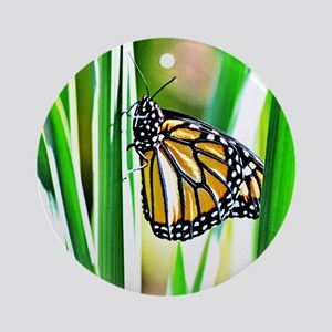 Sweet Monarch Butterfly Round Ornament