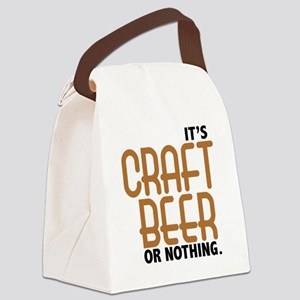 craft beer or nothing Canvas Lunch Bag
