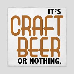 craft beer or nothing Queen Duvet