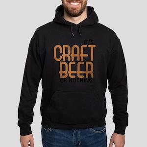 craft beer or nothing Hoodie (dark)