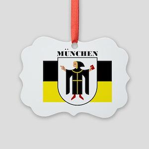 Munich (blk) Picture Ornament