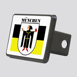 Munich (blk) Rectangular Hitch Cover