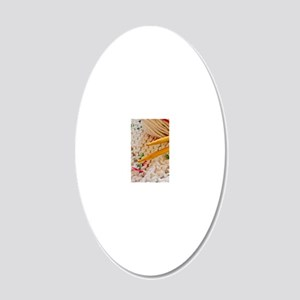 knittingTweed_clearCase 20x12 Oval Wall Decal