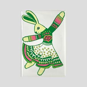 Dancing Bunny Rectangle Magnet