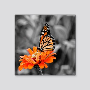 "Madam Butterfly Square Sticker 3"" x 3"""