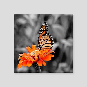 "Madam Butterfly Square Sticker 3"" x 3"""