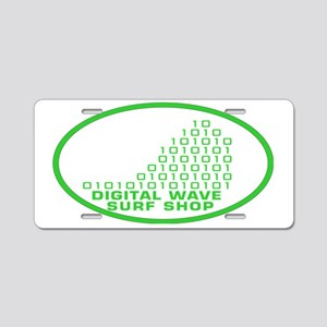 logowithbgothicgreentrovalb Aluminum License Plate