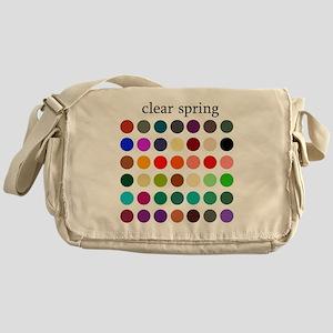 clear spring Messenger Bag