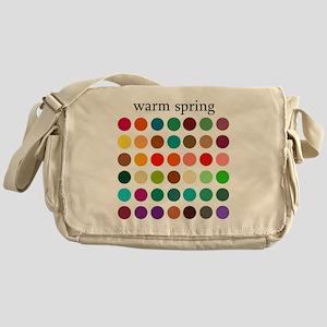 warm spring Messenger Bag
