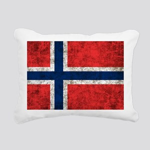 Norway Flag Rectangular Canvas Pillow