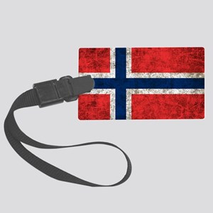 Norway Flag Large Luggage Tag
