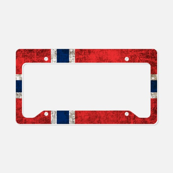 Norway Flag License Plate Holder