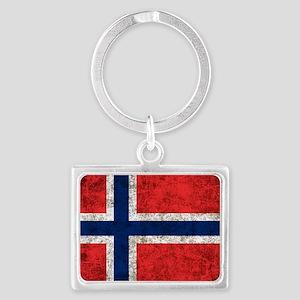 Norway Flag Landscape Keychain
