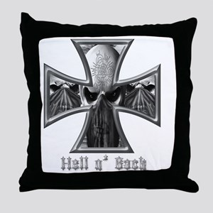 Hell n Back Skull Bandits Throw Pillow