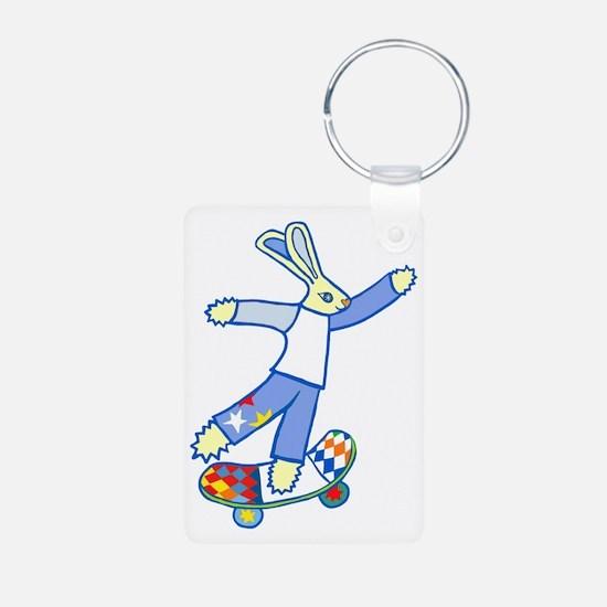 Skate Board Bunny Keychains