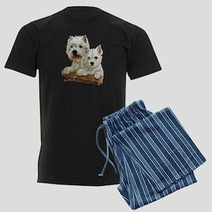 West Highland White Terrier Men's Dark Pajamas