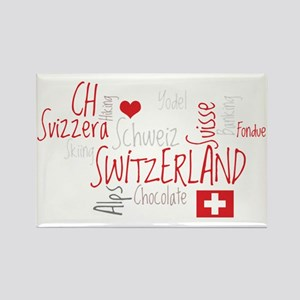 I Love Switzerland - For Dark Clo Rectangle Magnet