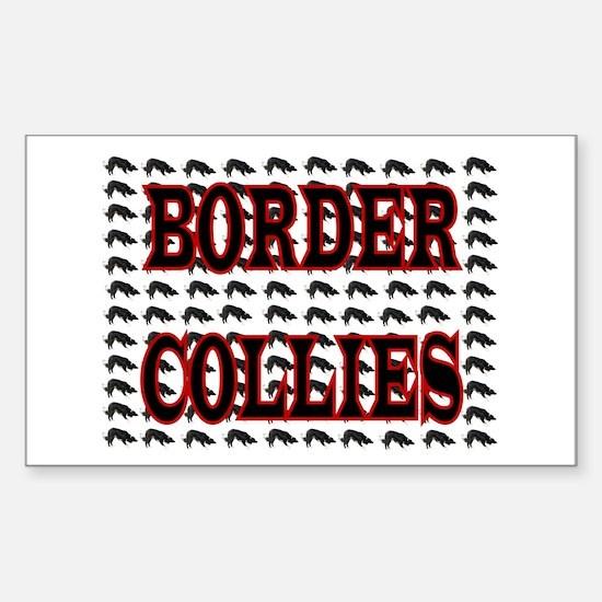 BORDER COLLIES Rectangle Decal