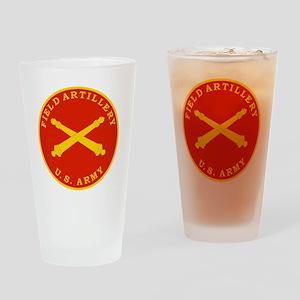 Field Artillery Seal Plaque Drinking Glass