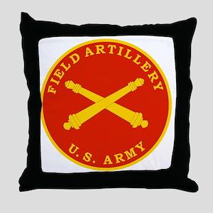 Field Artillery Seal Plaque Throw Pillow