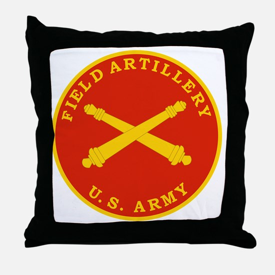 Field Artillery Seal Plaque Throw Pillow