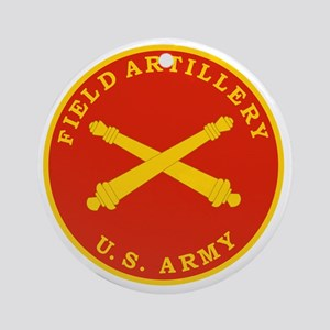 Field Artillery Seal Plaque Round Ornament