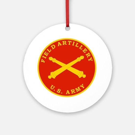 Field Artillery Seal Plaque Round Ornament