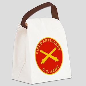 Field Artillery Seal Plaque Canvas Lunch Bag