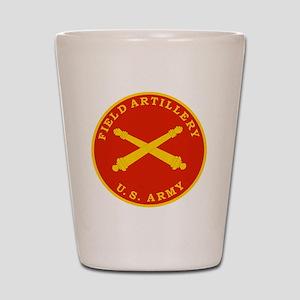 Field Artillery Seal Plaque Shot Glass