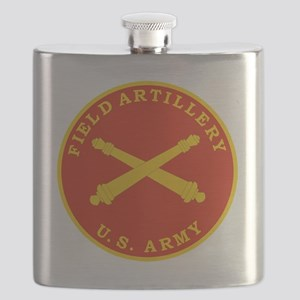 Field Artillery Seal Plaque Flask