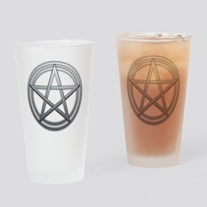 Silver Metal Pagan Pentacle Drinking Glass