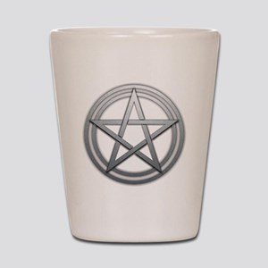 Silver Metal Pagan Pentacle Shot Glass
