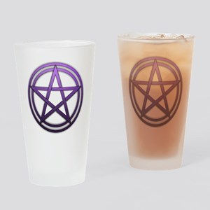 Purple Metal Pagan Pentacle Drinking Glass