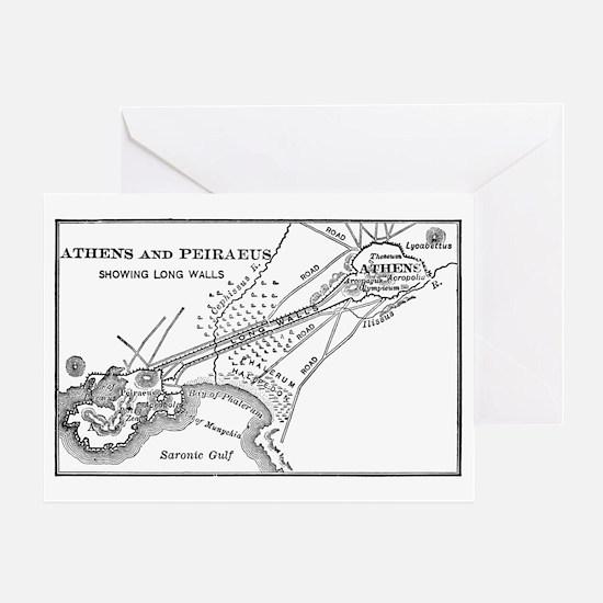 athensandpiraeusmap(btsfd193) Greeting Card