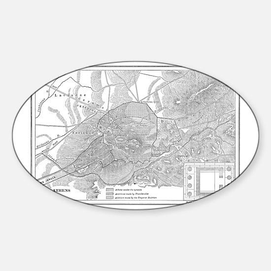 athensmap(btsfd208) Sticker (Oval)