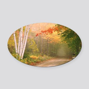 Vermont Oval Car Magnet